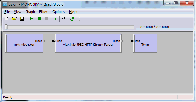 RenderHttpMjpegVideoIntoFiles01 Filter Graph