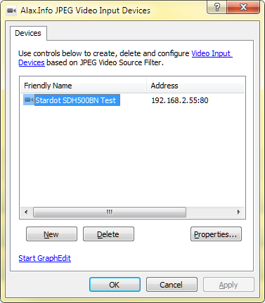 DirectShow Video Source Filter for JPEG and M-JPEG IP