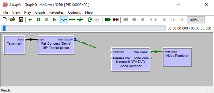 Trying to Connect MainConcept MP4 Demultiplexer and Microsoft H.264 Decoder