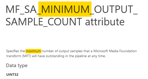MF_SA_MINIMUM_OUTPUT_SAMPLE_COUNT