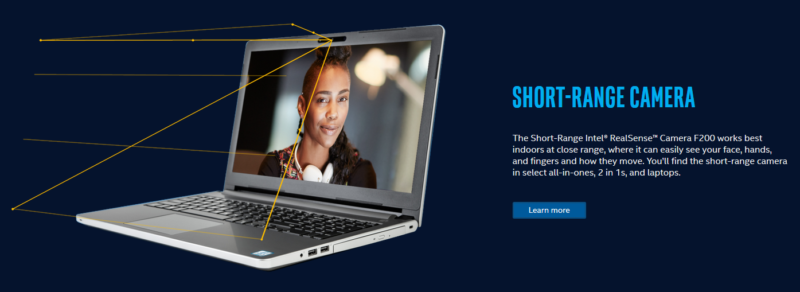 Intel Realsense camera ad from Intel website