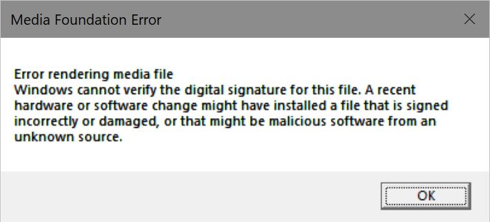 H 265/HEVC Video Decoder issues in Windows 10 Fall Creators Update