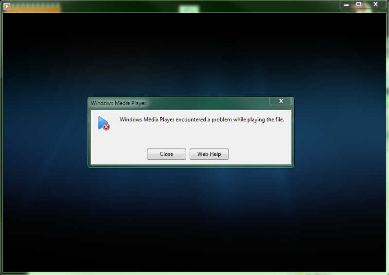 Broken WMV file in Windows Media Player