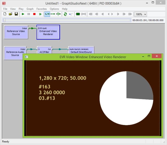 DirectShowReferenceSource fitlers running in GraphStudio