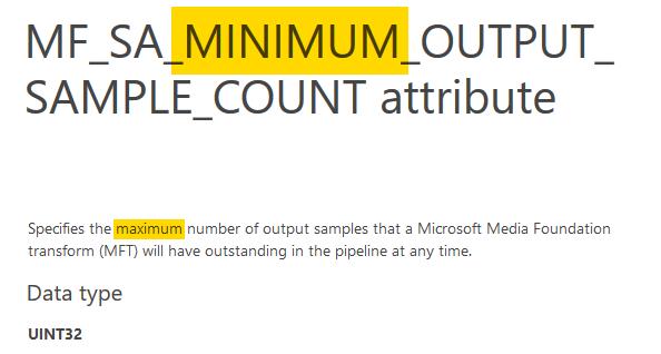 MF_SA_MINIMUM_OUTPUT_SAMPLE_COUNT