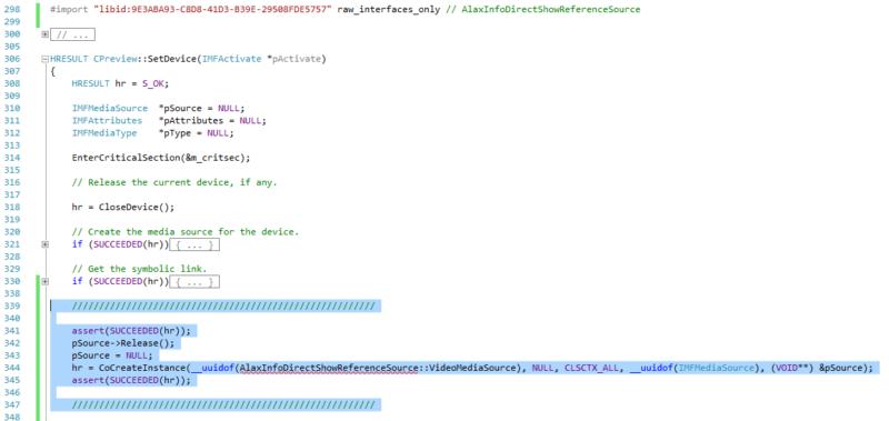MFCaptureD3D update for custom media source