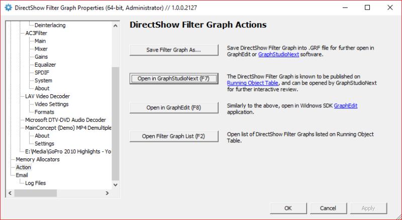 FilterGraphHelper.DoPropertyFrameModal UI (Actions)